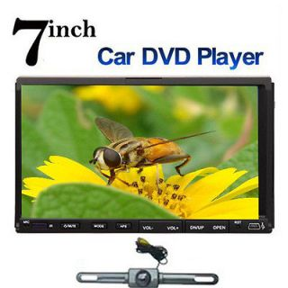 Din 7 In Dash Motorized Car DVD Player Road Media Touch Screen+Camera