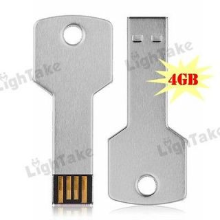 GB Metal Key Style USB 2.0 Flash Memory Stick U Disk Pen Drive Silver