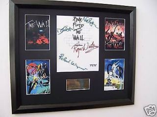 Pink Floyd THE WALL music Framed Memorabilia Signed Autograph