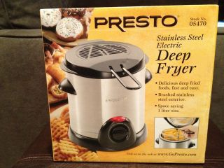 Presto stainless steel electric deep fryer ~Brand New~