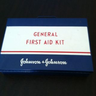 Johnson & Johnson General First Aid Kit some products inside too