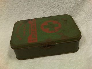 VINTAGE Boy Scouts of America 1940s Era First Aid Kit tin