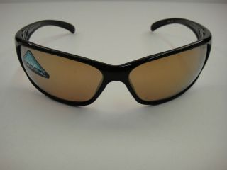 BOLLE RECOIL POLARIZED SUNGLASSES 11054 BLACK FRAME/INLAND GOLD LENS
