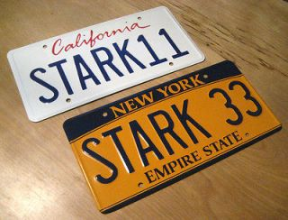 Tony Stark Avengers & IRONMAN License Plate Combo Metal Stamped Screen