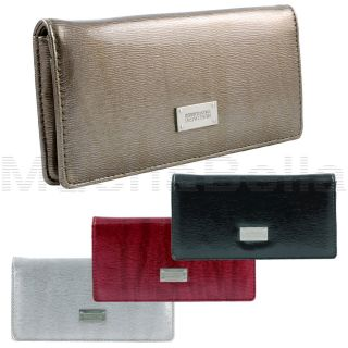 KENNETH COLE REACTION WOMENS SLIM CLUTCH WALLET PATENT