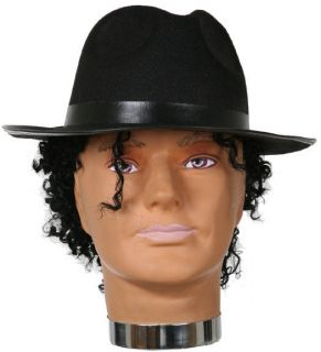BLACK MICHAEL JACKSON FEDORA BLUES BROTHERS GANGSTER HALLOWEEN COSTUME