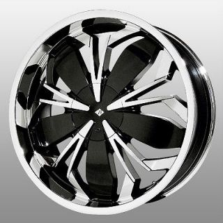 20 inch Black Ice Black Widow Chrome Wheels Rims 4x100 SC Series XA XB