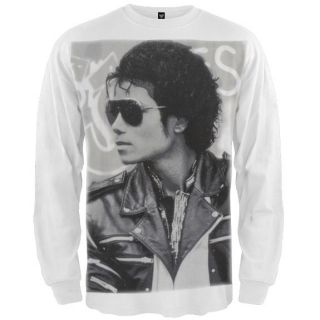 Michael Jackson   Classic Photo Long Sleeve Tee Shirt