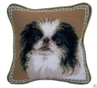 dog needlepoint pillows in Home & Garden
