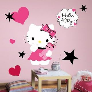 HELLO KITTY COUTURE WALL DECALS Girls Bedroom Stickers Pink Room Decor
