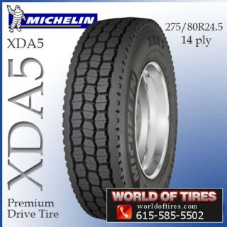 Michelin XDA5 275/80R24.5 semi truck tires 24.5lp 24.5 tires