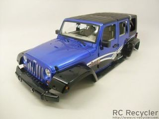 New Bright 1/10 Jeep Wrangler Unlimited Body Blue Scale Rock Crawler