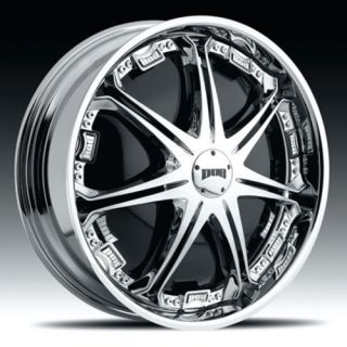 28 DUB STALLION SPINNER CHROME WHEEL SET
