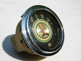 VINTAGE STEWART WARNER GREENLINE AMP GAUGE 2 1/16 AMPERES HOT ROD