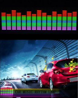 Sound music Activated Car Stickers Equalizer Glow Blue Light 45*11cm