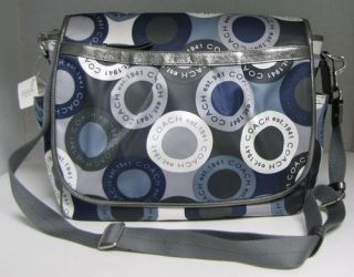 NWT COACH Snaphead Baby Messenger Bag Laptop Tote Diaper Multi
