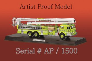 Franklin Mint Pierce Snorkle Fire Truck Diecast 132 B12E417 SN AP of
