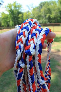 Blue Red White Barrel Race Reins New Nylon Horse Tack