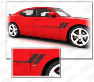 Dodge Charger Hash Track Side Stripes Decals 2006 2010