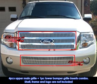 07 11 2011 Ford Expedition Vertical Billet Grille Combo