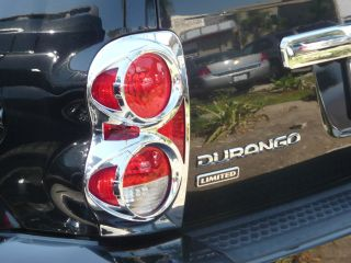 DODGE DURANGO SUV 2004   2010 TFP ABS CHROME TAIL LIGHT COVER INSERT
