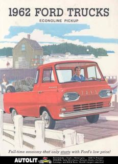 1962 Ford Econoline Pickup Truck Sales Brochure