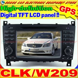 MERCEDES BENZ Class/W209 CLK63 AMG Car DVD Player GPS Navigation