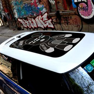 MINI COOPER Car Sun Roof Baby Bear Street Art Graffit Graphic