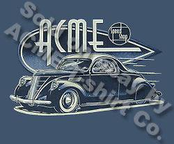 Hot Rod Tee 1937 Lincoln Zephyr 37 ACME Speed Shop T Shirt Sz M L XL
