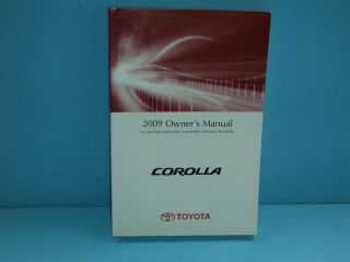 09 2009 Toyota Corolla owners manual