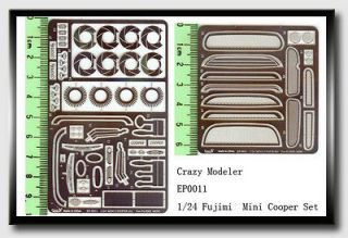 Photoetch for 1/24 Mini Cooper for Fujimi kits
