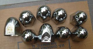Chrome steel HEX Lug Nut Covers 1.5 Bullit Semi Truck Wheel push on