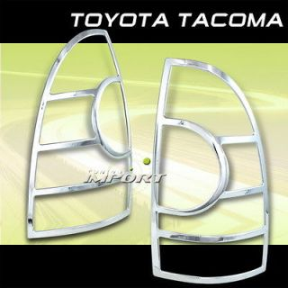 TOYOTA 05 11 TACOMA CHROME ABS REAR TAIL LIGHTS LAMPS COVER/BEZEL LH