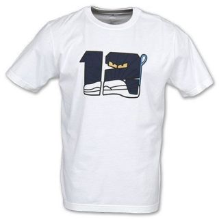 NIKE AIR JORDAN RETRO XII 12 NEW Mens White Cotton Character Shirt