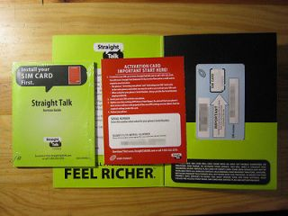 STRAIGHT TALK MICRO SIM CARD ACTIVATION KIT for ATT IPHONE 4/4S, & GS3