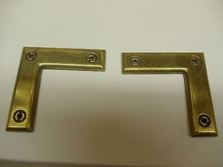 40 Antique Brass Decorated L Corner Brackets~ Door~ Frame~ Cabinet