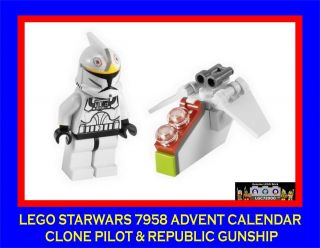 Lego Starwars Advent Calendar 7958 Clone Pilot & Republic Gunship