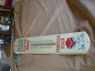 Sealed Power Piston Rings Thermometer Nice Original
