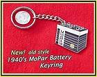 Old Style 1940s Mopar Battery Keychain Chrysler Plymouth Dodge DeSoto