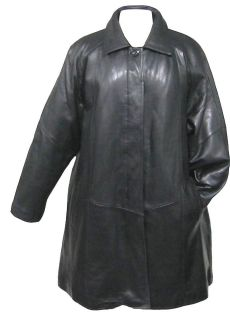 WOMENS LAMBSKIN LEATHER SWING COAT WITH ZIP OUT LINER