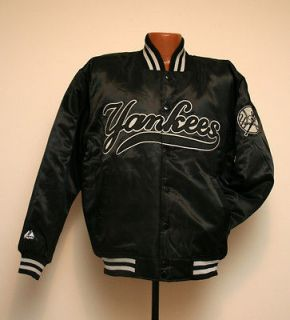 New York Yankees MLB Majestic Home Base Collection Satin Dugout Jacket