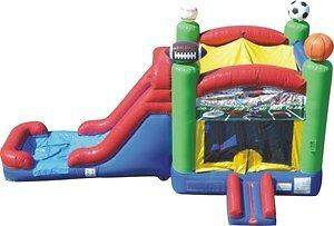 Commercial Inflatable Bounce House Water Slide Sports Combo Moonwalk