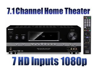 Sony STR DH810 7.1 Channel Home Theater A/V Receiver 7 HD Inputs 1080p