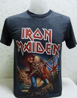 Maiden Vtg. Rock Nice Cool Men Thin&Soft Elastic Jersey T Shirt, L
