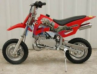 BRAND NEW 49CC 50CC 2 STROKE GAS MOTOR MINI DIRT PIT BIKE RED DB49A