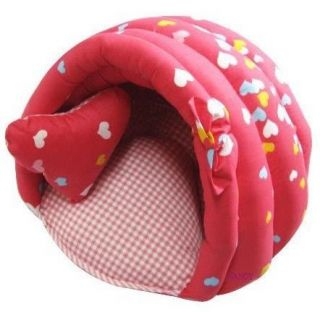 Hamburger Shape Pet Dog Cat Bed House Half Covered Bed