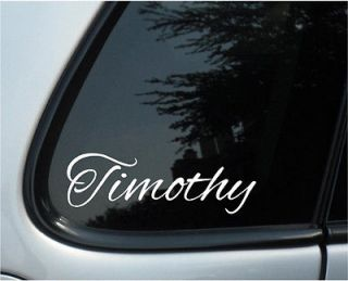 Personalized Name Vinyl Car/Laptop, Netbook Decal Stickers X2