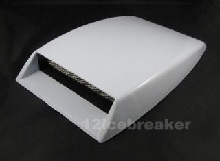 Mini car Air Flow Intake hood Scoop Vent Bonnet Cover white decorative