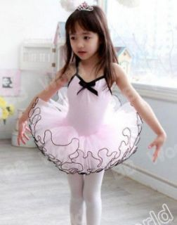 Girls Party Dance Ballet Tutu Dress Costume 7 8 Y Pink Color