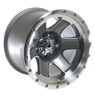 Summit Racing Nomad Diamond Cut Wheel 15x10 5x4.5 BC Set of 4